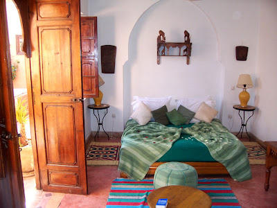 My top floor room at the Riad Nora, Marrakech
