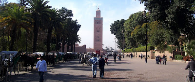 A lovely avenue between Djemaa el Fna and the Koutoubia Mosque