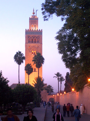 Twilight at the Koutoubia Mosque, a perfect moment in time