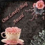 The ONE LOVELY BLOG award, presented by Chrissy over at I SHOULDA BEEN A STRIPPER