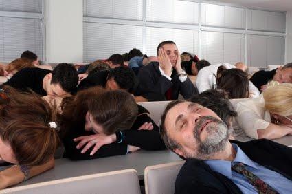 audience asleep