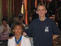 Isabelle avec son entraîneur Stéphane