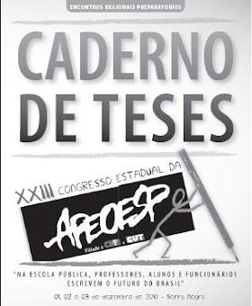 Caderno de Teses  XXIII Congresso Estadual da APEOESP
