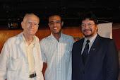 Ariano Suassuna, Leo Durval e Alexandre Santos (Presidente da União Brasileira dos Escritores)