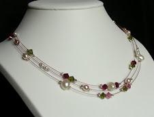 Perles d'eau douce et cristal Swarovski