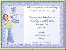 work baby shower invitation