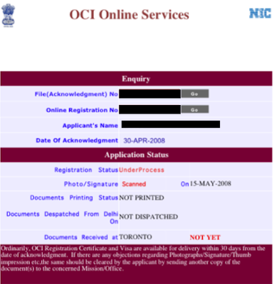 how to get oci in india