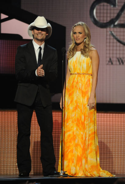 Carrie Underwood CMA 2010 Wardrobe Changes