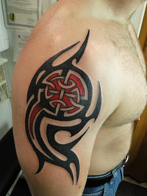 An interesting design for tribal tattoo is credited to the Celtic tattoo art