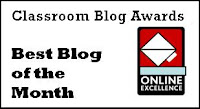 My site was nominated for the Best Classroom Blog