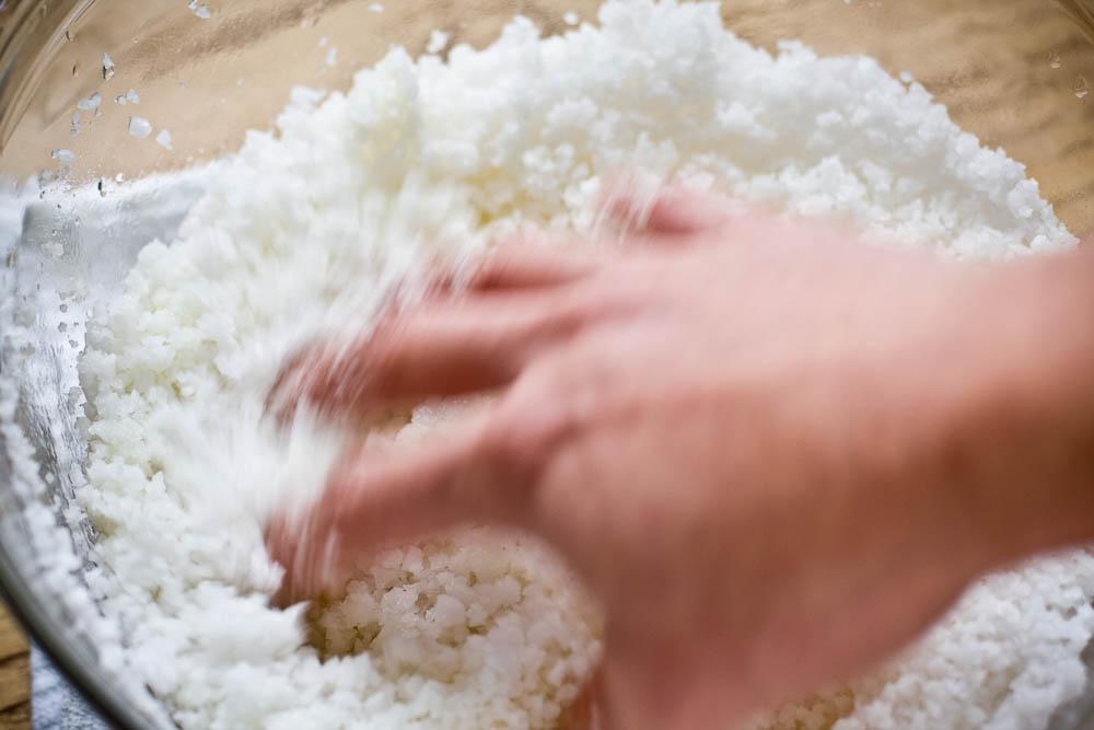Salt Encrusted Crab, Salt Batter