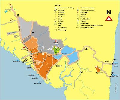 Peta Wisata Tarakan Borneo - Ardiz Tarakan Borneo