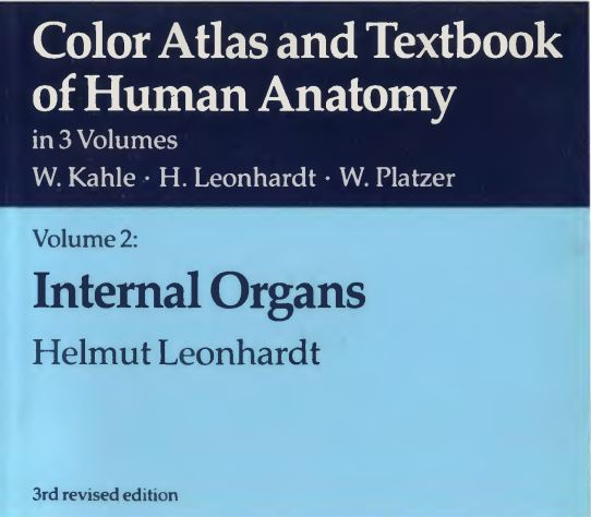 Color atlas and textbook of human anatomy Kahle