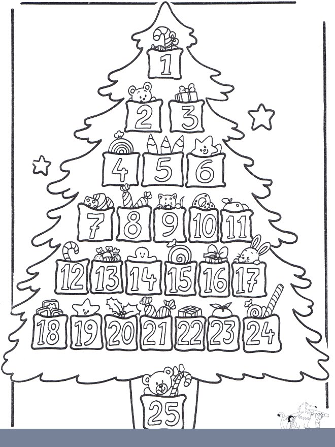Educar Con Jes 250 S Adviento Otra Idea Para El 225 Rbol De Tree Countdown Coloring Page