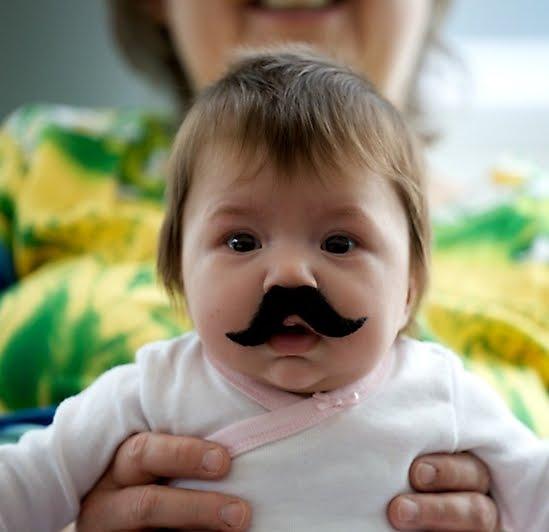 Koleksi Foto Bayi Berkumis yang lucu dan keren neh,