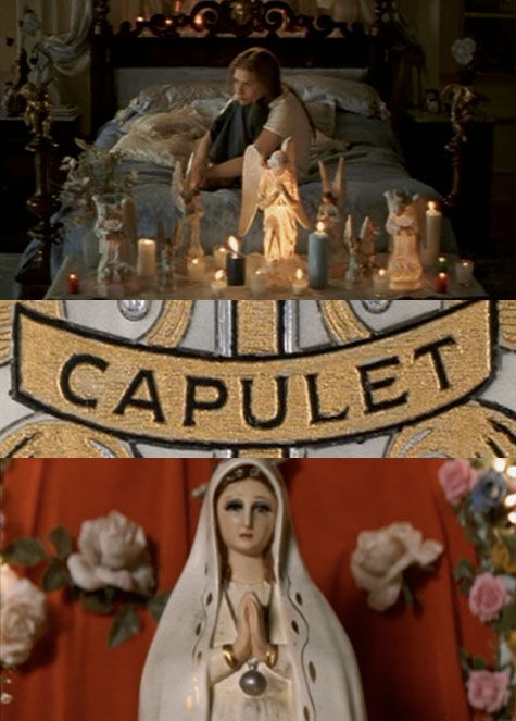 symbols in romeo and juliet by baz luhrmann Myth, as do baz luhrmann's prolific romeo + juliet (1996), lloyd kaufman's low-   a motif and instead moves the gang milieu further into the foreground than.