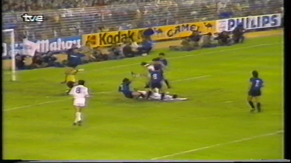 Semifinal Copa UEFA 1984/1985 (vuelta), Real Madrid 3-0 Inter Milan Ufa.84.85.Rl.Int.Full.2Leg.0