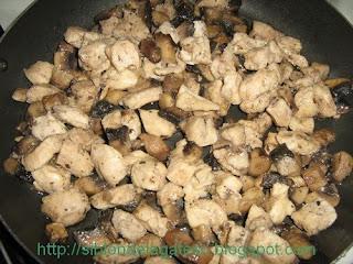pui si ciuperci pentru tortellini