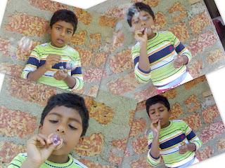 akshay kumar blowing bubbles