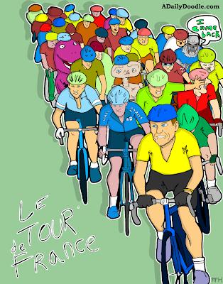 Le Tour De France adailydoodle.com