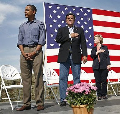 awkward obama  flag salute