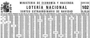 lista de numeros premiados loteria nacional: