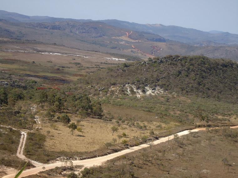 Vista Morro Cabeludo com Várzea do Lajeado