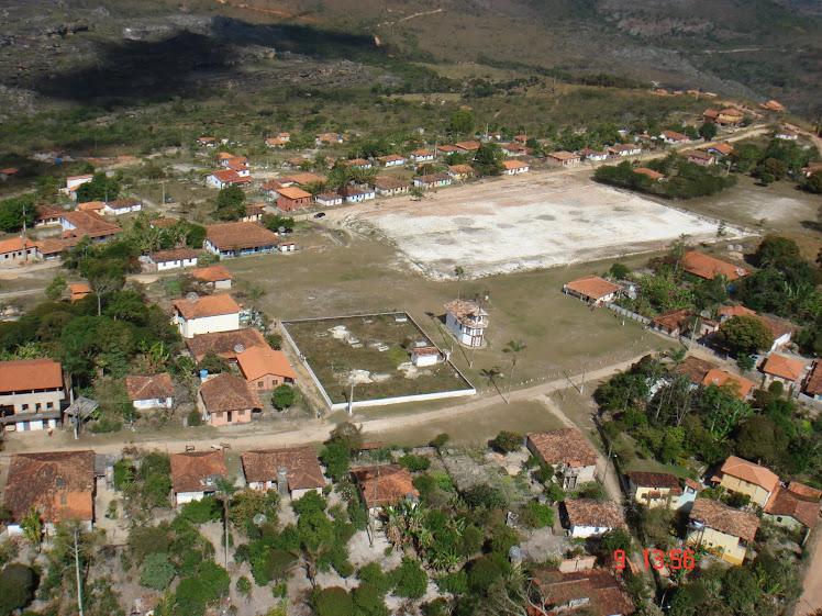 Vista aérea de Milho Verde...