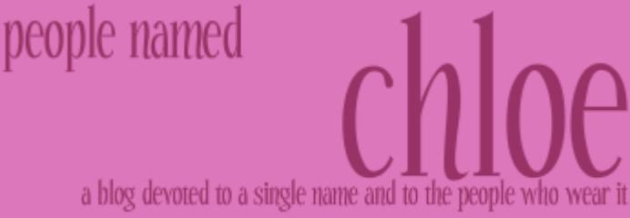 People Named Chloe