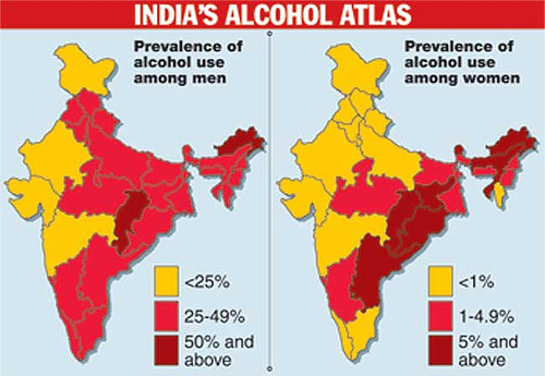 alcoholism in india Alcohol in india monica arora, programme manager of hriday/shan prohibition is incorporated in the constitution of india among the directive principles of state policy.