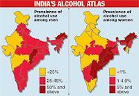 Alcohol free India,Alcohol ban in India,prohibition,alcoholism,alcohol atlas,