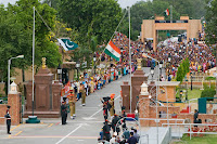 Wagah, Wagah border,India Pakistan border,change of guards ceremony