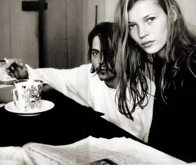 johnny depp kate moss bed