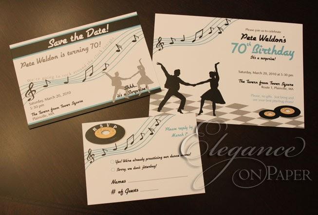 Elegance on Paper Blog: Sock Hop Birthday Invitations