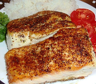 Sandra's Alaska Recipes: MAX'S PAN-SEARED WILD ALASKA KING SALMON