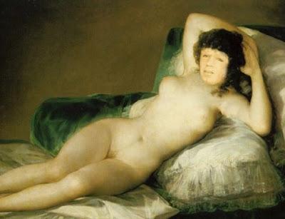 Goya 2.0 posó desnudo en una ocasión