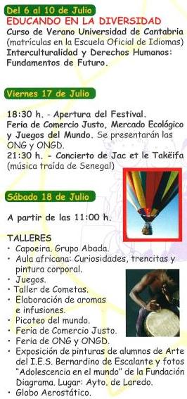 PROGRAMA IV EDICCIÓN FESTIVAL INTERCULTURAL DE LAREDO 2009