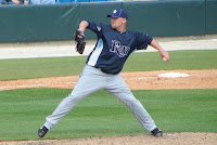 Heath Phillips pitched five shut-out innings in Thursday's game against Toledo.