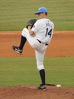 Jeremy Hall extends his streak of consecutive scoreless innings to thiry with seven more innings on Monday.  Photo by Jim Donten.