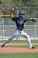 Richard De Los Santos pitched seven scoreless innings on Wednesday night.