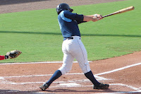 Stephen Vogt went 3 for 5 with 3 RBI's in Monday's game. Photo by Jim Donten.