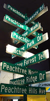 Atlanta Visitor Center, Peachtree Street Signs