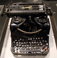 Typewriter used in the Belarussian forest