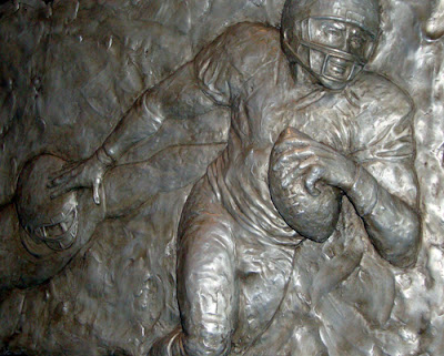 Football Sculpture in Georgia Dome