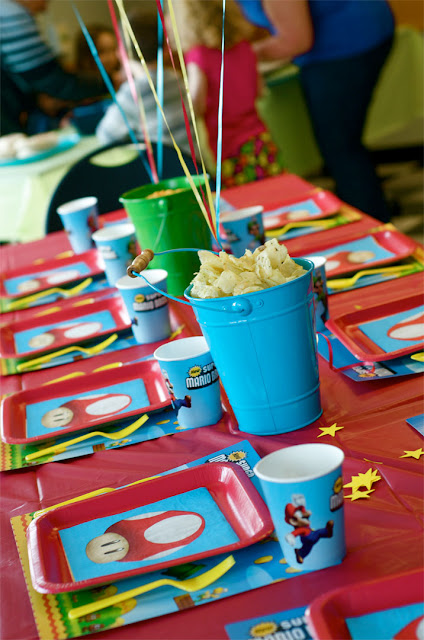 super mario bros party  kids birthday party ideas  panache and pizazz parties   http://www.frostedevents.com