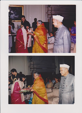Poetry Recitaion in President's house, President Shankar Dayal Sharma ji and Vimla Sharma ji 1996
