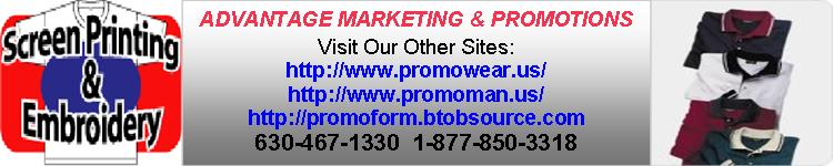 Advantage Marketing and Promotions:  Apparel, Uniforms, Promotional Items With Your Company Logo