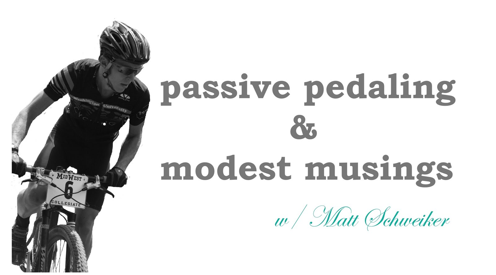 passive pedaling and other modest musings