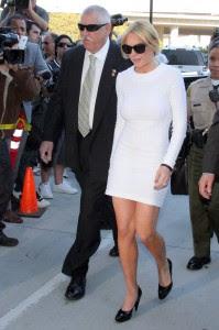 lindsay lohan white dress