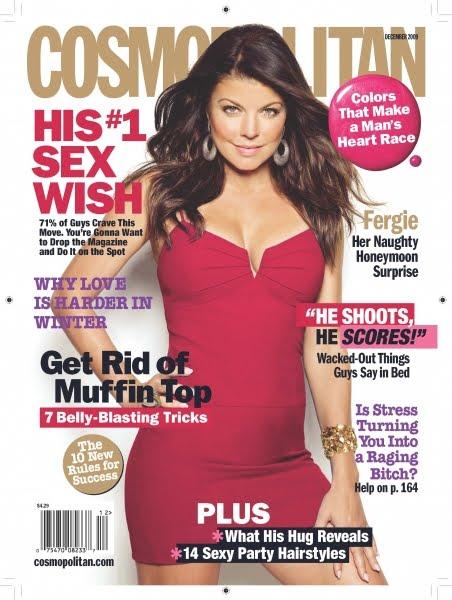 Fergie Cosmopolitan Magazine December 2009 Cover